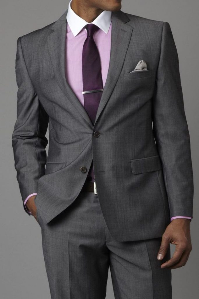 галстук под серый костюм