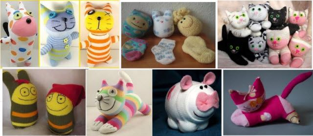 разные носочные игрушки