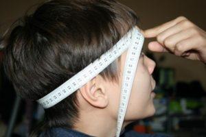 как снимать мерки для шапки-шлема