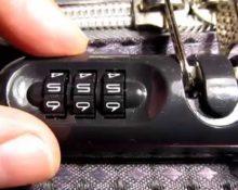как разблокировать код на чемодане