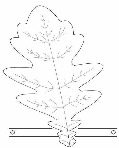 выкройка дубового листка