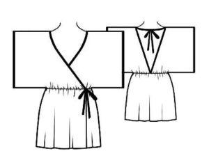 """Пеньюар в стиле """"кимоно"""""""