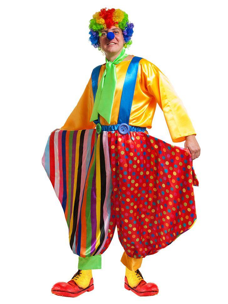 выбор фасона мужского костюма клоуна