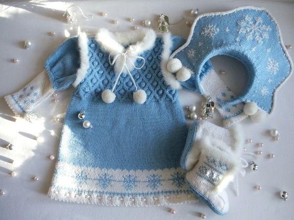 вязаный костюм снегурочки
