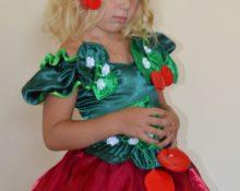 костюм вишенки для девочки своими руками