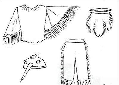 Выкройка костюма жеравля 2