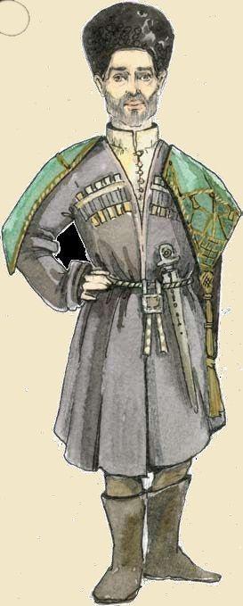 мужской лезгинский костюм