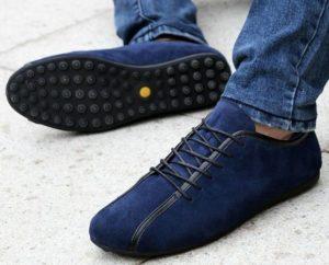 Полуспортивные синие туфли