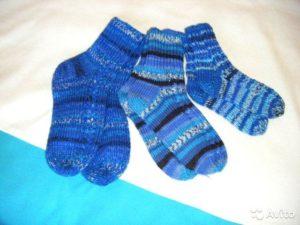 Синие носочки