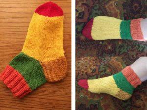 Разноцветные носочки