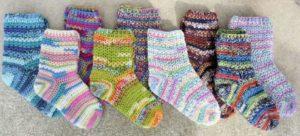 Меланжевые носочки