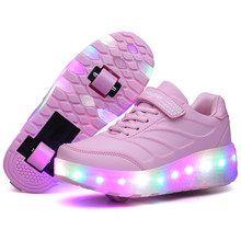 розовые кроссовки на колесиках