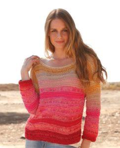 Полосатый свитер оверсайз