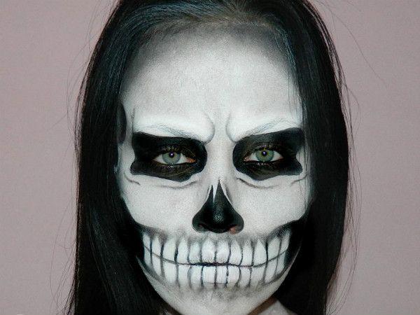 макияж скелета