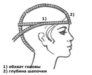 Мерки головы для вязания шапки