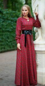 модное длинное платье