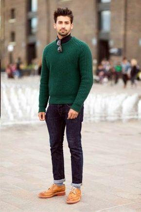 Светлые броги с брюками