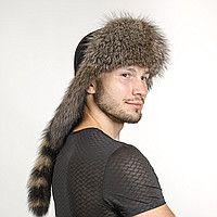 мужская шапка с хвостом