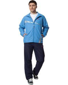 Мужской спортивный костюм с голубой курткой
