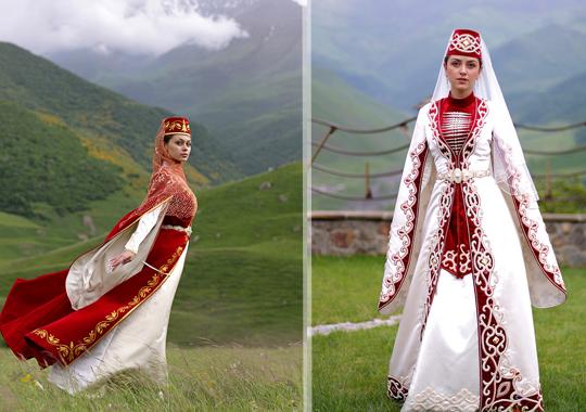 Свадебный наряд осетинской невесты