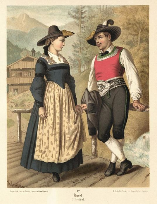 традиционный наряд немцев до 19 века