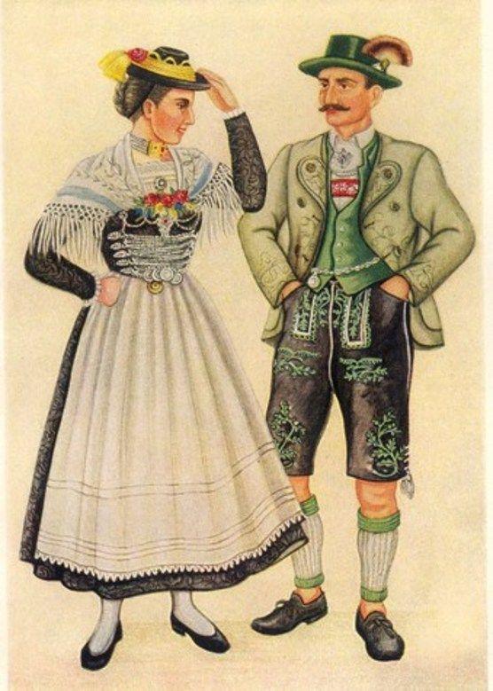 немецкий костюм в истории