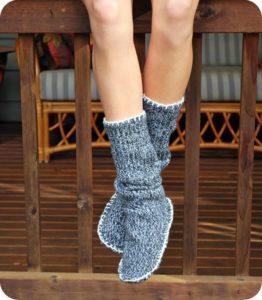 носки из старого свитера