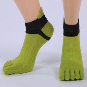 Пальчиковые зелёные носки