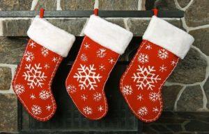 новогодний носок для подарков своими руками