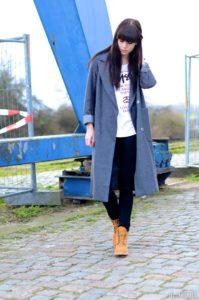 тимберленды с пальто