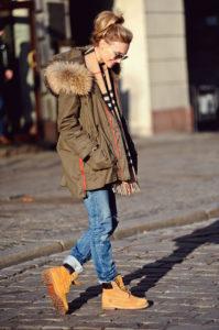 тимберленды  с курткой