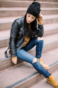 тимберленды с джинсами