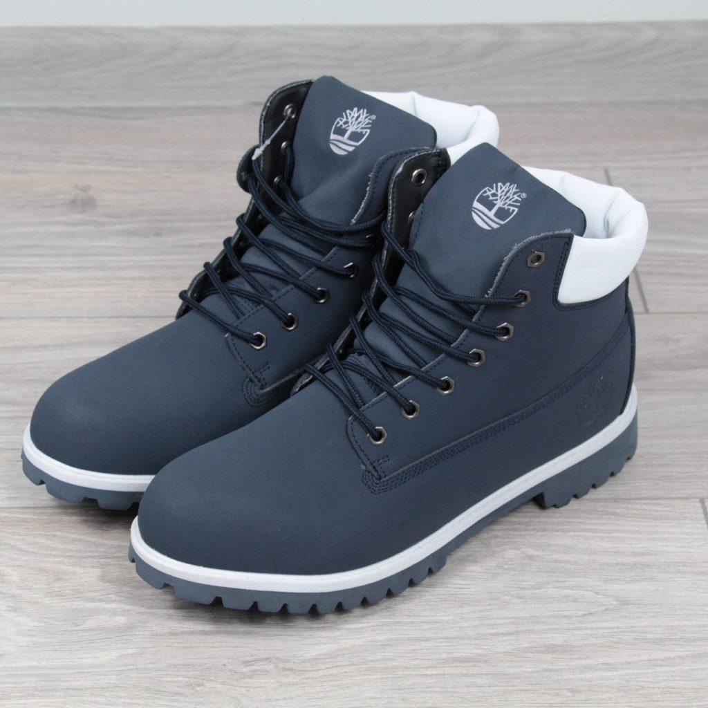 Синие ботинки Тимберленд