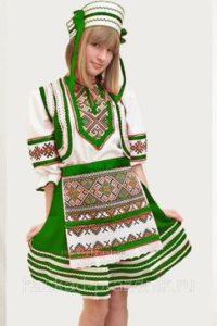 Зеленый белорусский костюм