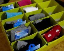 органайзер юля носков из картонной коробки