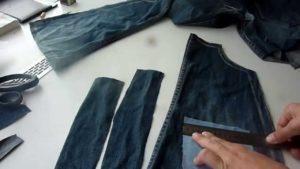 особенности работы с джинсовой тканью
