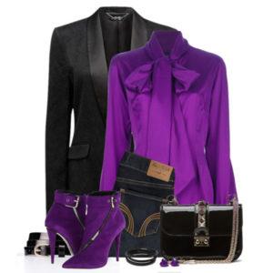 фиолетовый с чёрным