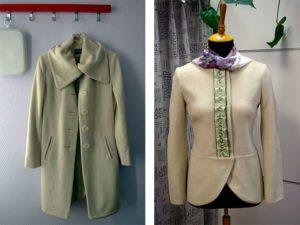 переделка пальто в короткую модель
