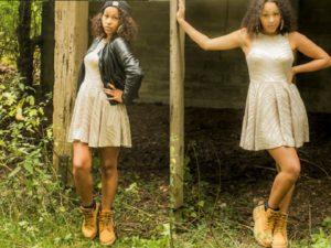 платье и ботинки тимберленд