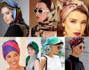 платок на голову летом