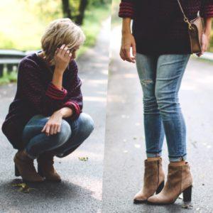 полусапоги с джинсами