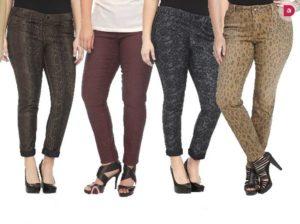 Принты узких брюк для полных ног