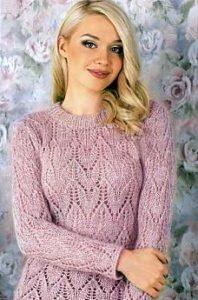 Нежно-розовый свиетр женский