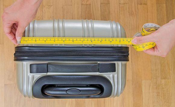 Размер чемодана в сантиметрах
