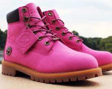 счем носить розовые тимберленды
