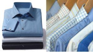 Сложенные правильно рубашки