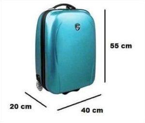 бирюзовый чемодан