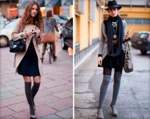 девушки в высоких носках