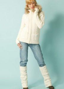 Белые гетры с джинсами