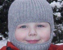 шапка для мальчика крючком с манишкой